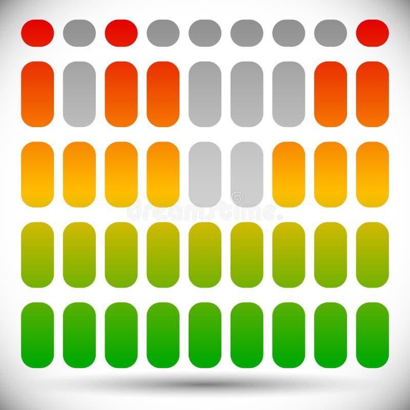 Download Цвет EQ спектра - бары прямоугольника шаблона выравнивателя Иллюстрация вектора - иллюстрации насчитывающей нот, аукционов: 81806682