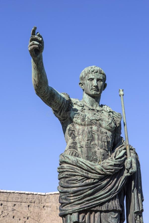 Цезарь Augustus в Риме стоковые изображения rf