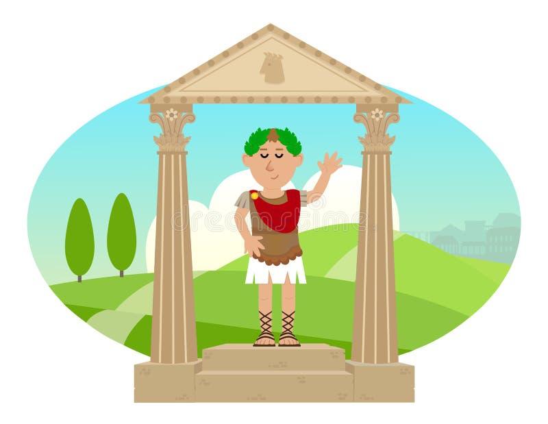 цезарь julius иллюстрация вектора