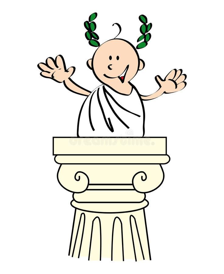 Цезар иллюстрация вектора