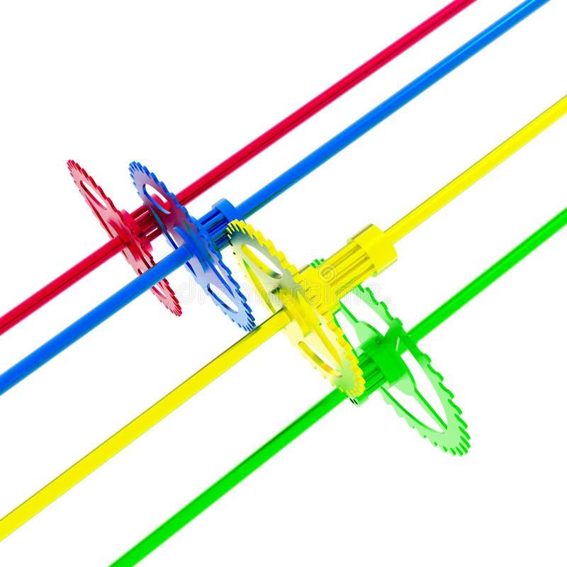 цели движения к иллюстрация вектора