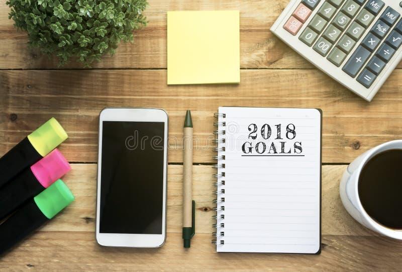 Цели концепции 2018 Нового Года стоковая фотография rf