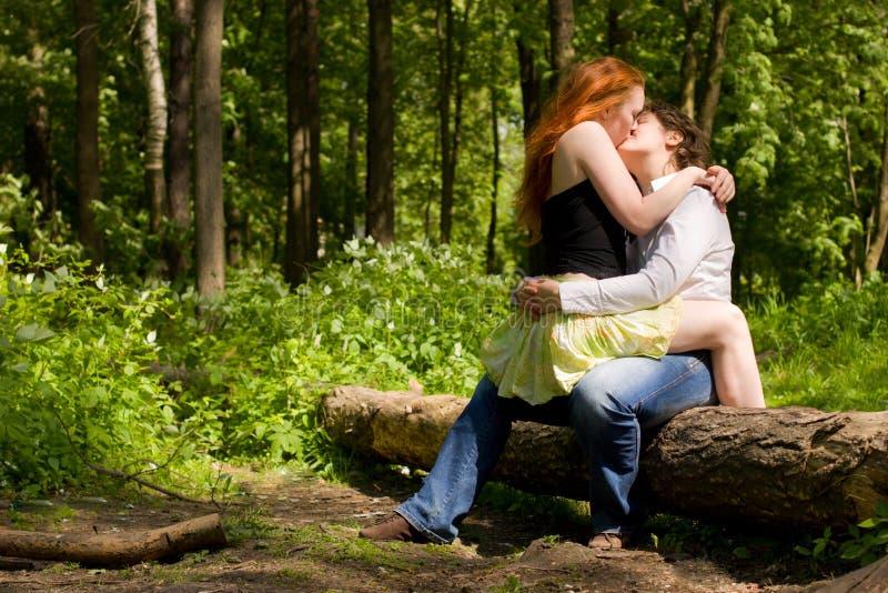 целовать подруг стоковое изображение