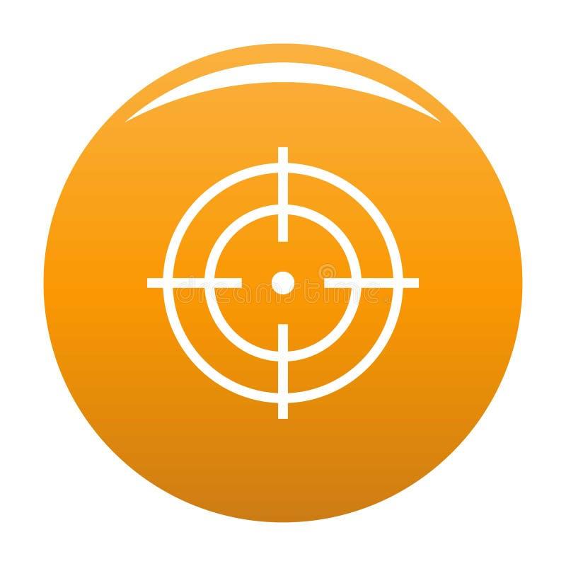 Цель апельсина значка спортсмена иллюстрация вектора