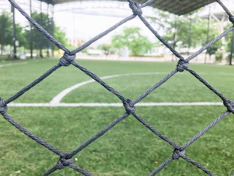 Цель в футбольном поле на Таиланде стоковые изображения rf
