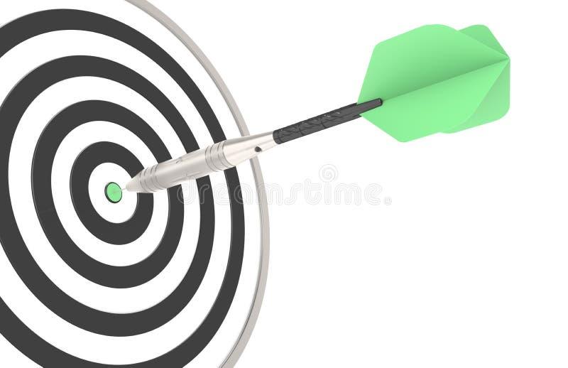 цель дротика зеленая ударяя бесплатная иллюстрация