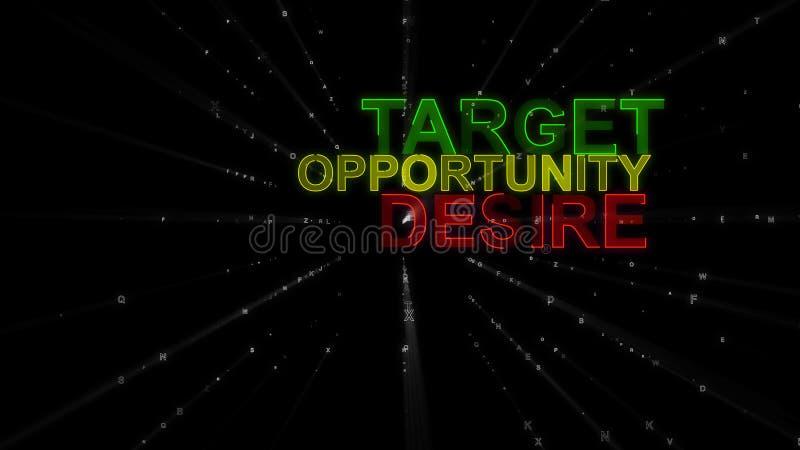 Цель, желание, возможность как слова концепции бесплатная иллюстрация