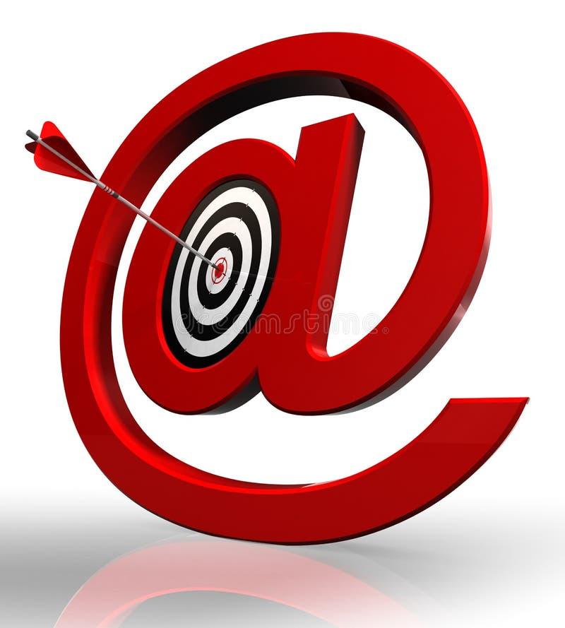 цель символа электронной почты принципиальной схемы красная бесплатная иллюстрация