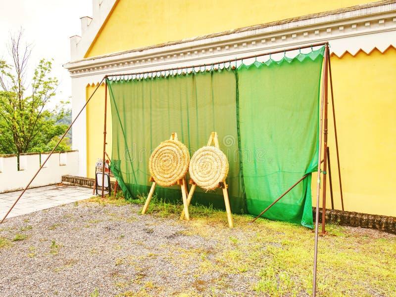 Цель соломы круга для trilling archery стоковая фотография
