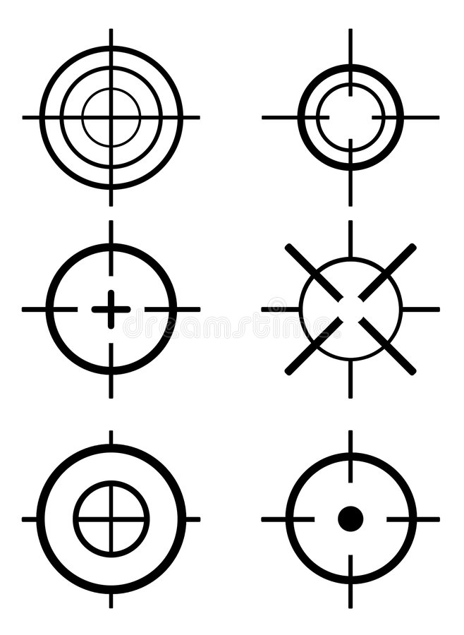 цель иллюстрация вектора