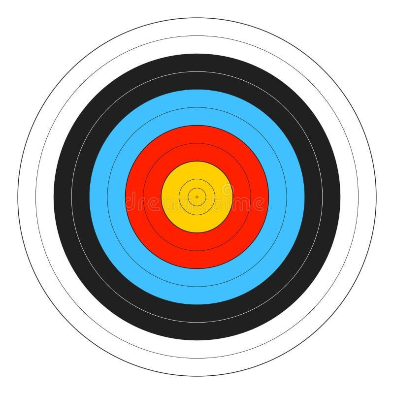 цель archery иллюстрация вектора