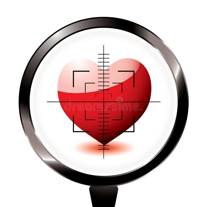 цель riffle влюбленности сердца иллюстрация штока