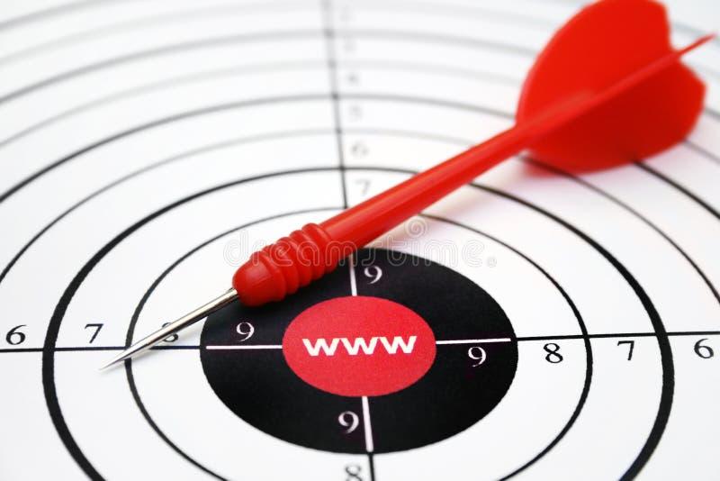 цель www стоковое изображение rf
