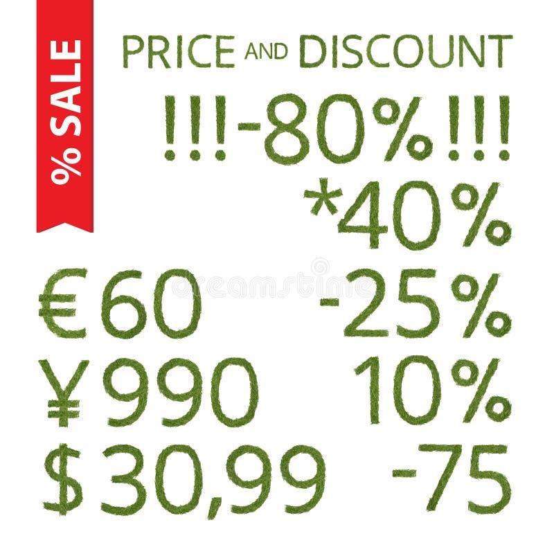 Цена и скидка иглы сосны бесплатная иллюстрация
