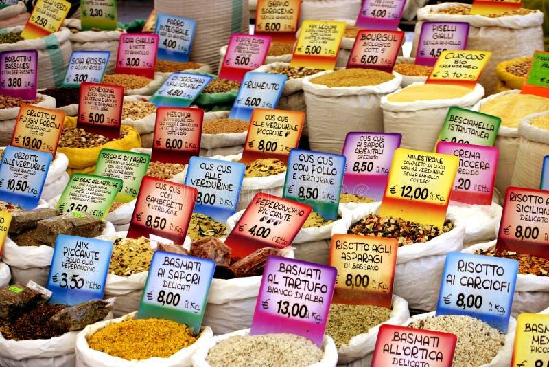 цена на продукты питания стоковая фотография rf