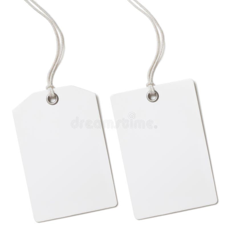Цена чистого листа бумаги или изолированный комплект бирки подарка стоковая фотография rf
