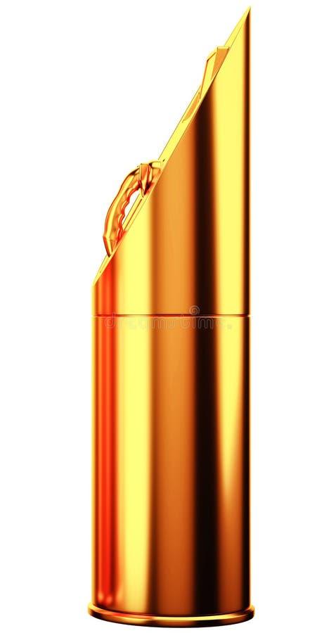 Ценная энергия: золотая зарядная станция для isola электрических автомобилей иллюстрация штока