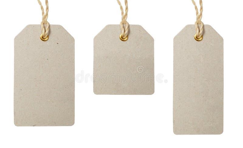 Ценники установленные на белую предпосылку стоковые изображения