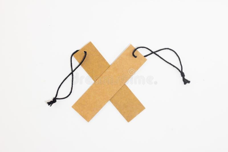 Ценник чистого листа бумаги Брайна стоковые изображения rf