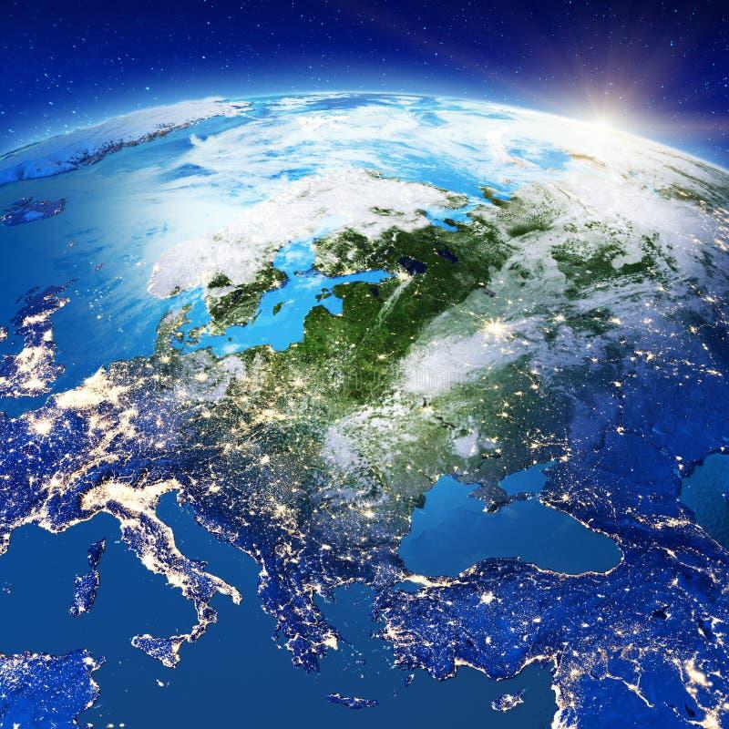 Центральная Европа от космоса бесплатная иллюстрация