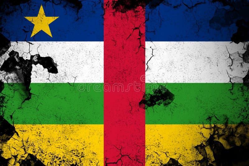 Центральноафриканская Республика ржавая и иллюстрация флага grunge иллюстрация вектора