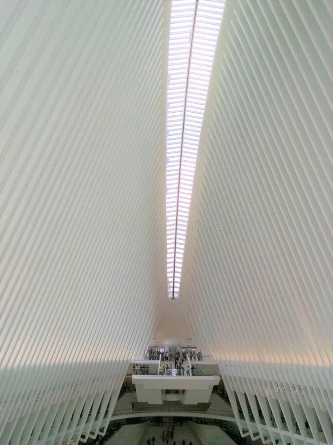 Центральное oculus сентябрь 2018 мола метро NYC стоковая фотография rf