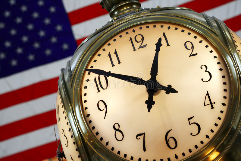 центральные часы грандиозные стоковое изображение rf