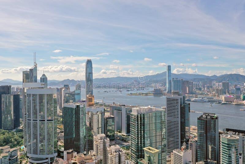 Центральный Гонконг, 1-ое июля 2019 стоковое изображение rf