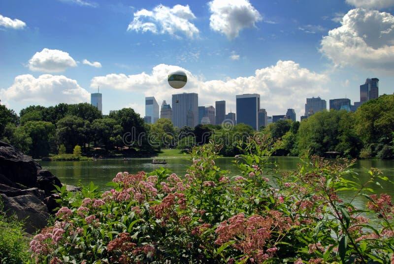 центральный горизонт парка nyc центра города manhattan стоковые изображения rf