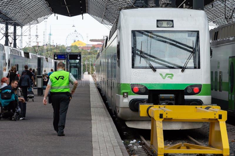 Центральный железнодорожный вокзал Хельсинки, Финляндия стоковое фото