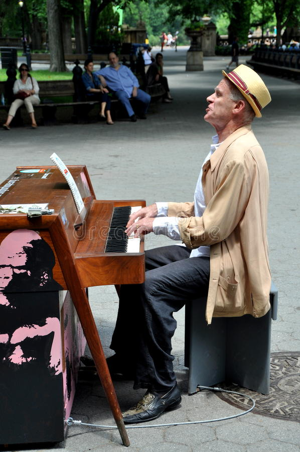 центральный игрок рояля s парка nyc мола стоковое изображение rf