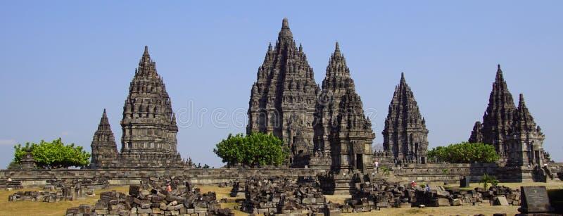 центральный индусский висок yogyakarta Индонесии java prambanan стоковое фото rf