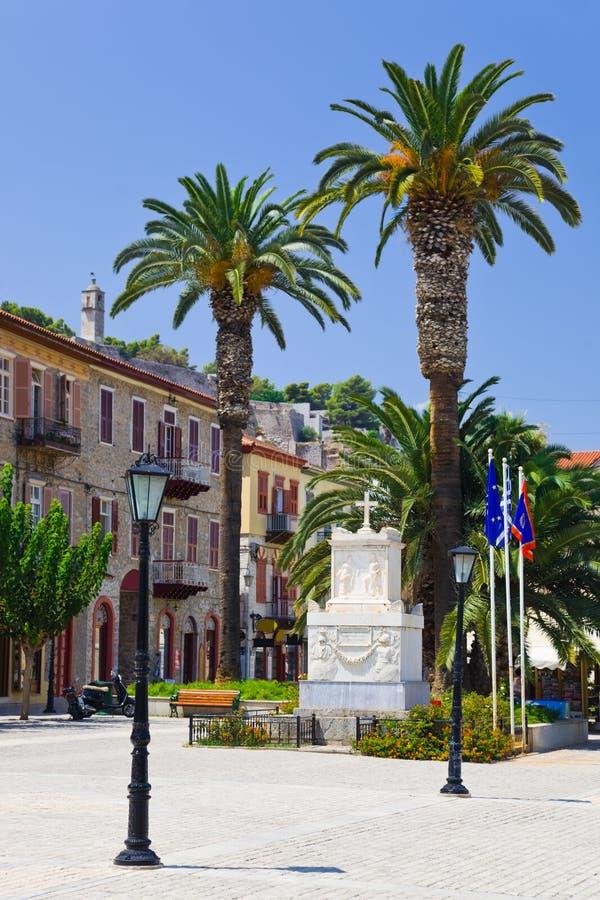 центральный квадрат nafplion Греции стоковая фотография rf