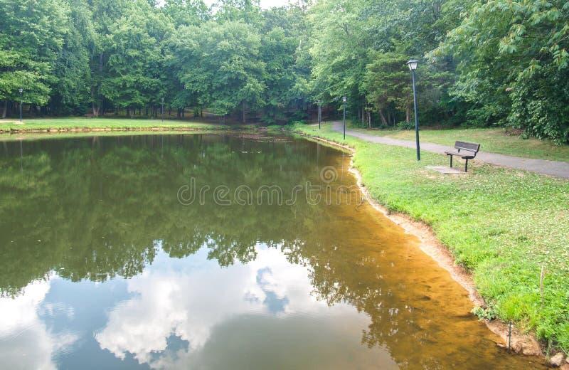 Центральный парк в короле, Северной Каролине стоковая фотография