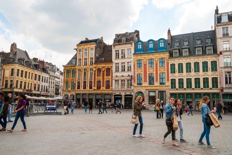 Центральная городская площадь в Лилле, Франции стоковые изображения rf