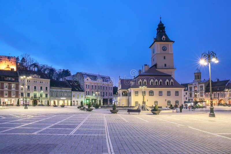 Центральная площадь в Brasov стоковое изображение
