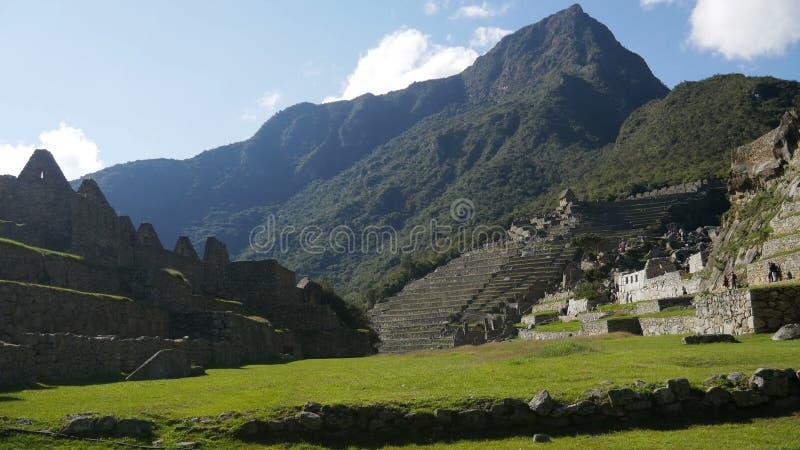 Центральная площадь на городе inca Machu Picchu в Перу акции видеоматериалы