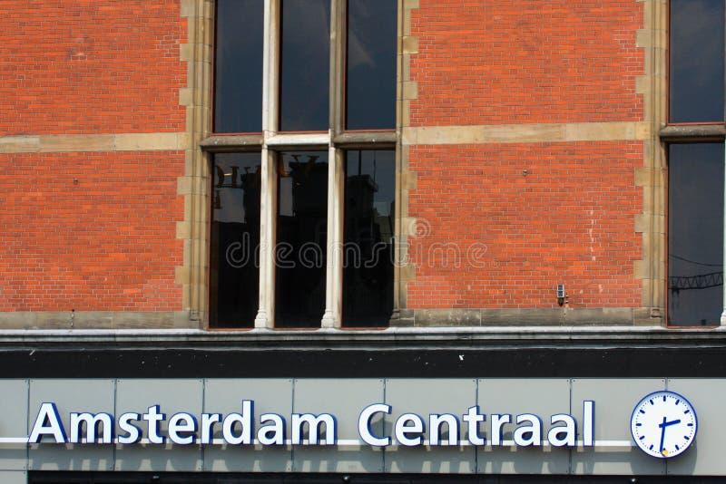 Центральная станция Амстердама, Нидерланды в марте 2016 стоковое изображение