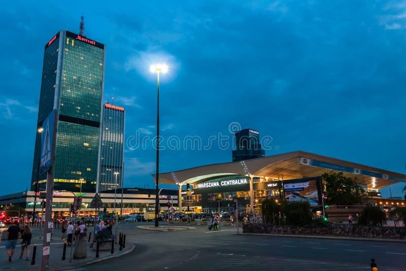 Центральная станция Польша Варшавы стоковые фото