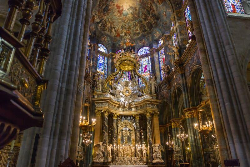 Центральная ступица собора Луго стоковые изображения rf