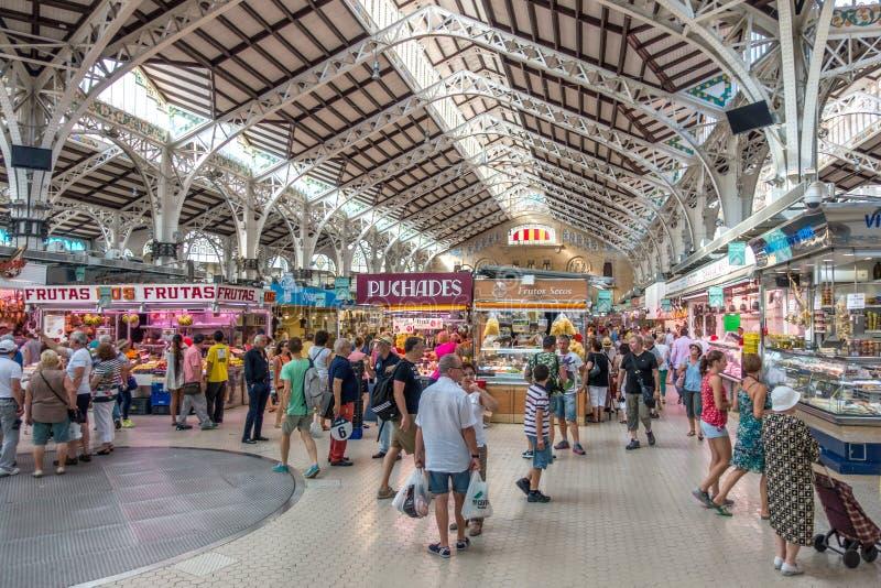 центральное mercado valencia стоковая фотография rf