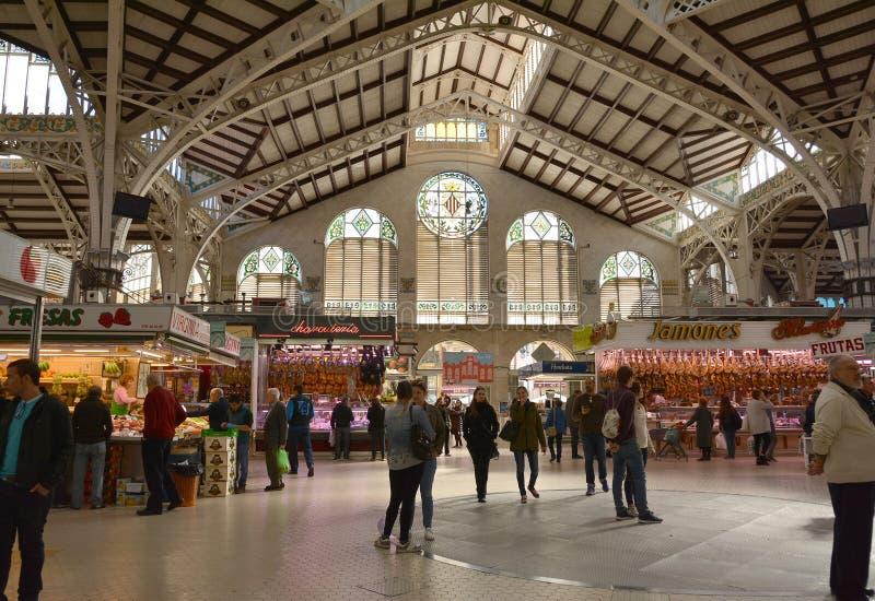 Центральный рынок - централь Mercado в Площади Ciudad De Brujas, Валенсии стоковое фото