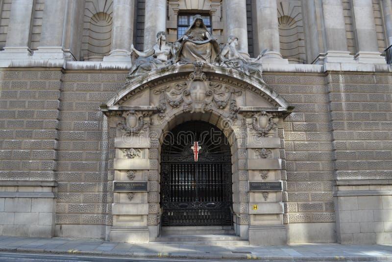 Центральный уголовный суд Лондон стоковая фотография rf