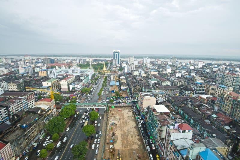 Центральный Янгон стоковая фотография