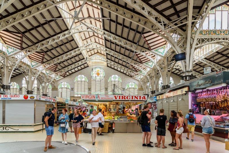 Централь Mercado или централь Mercat (центральный рынок) в Валенсии стоковые фото