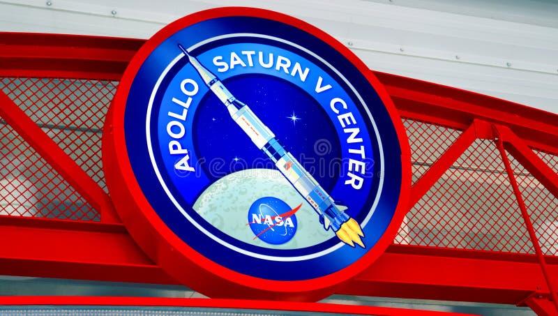 Центр Аполлона Сатурна v на Космическом Центре имени Кеннеди стоковое изображение rf