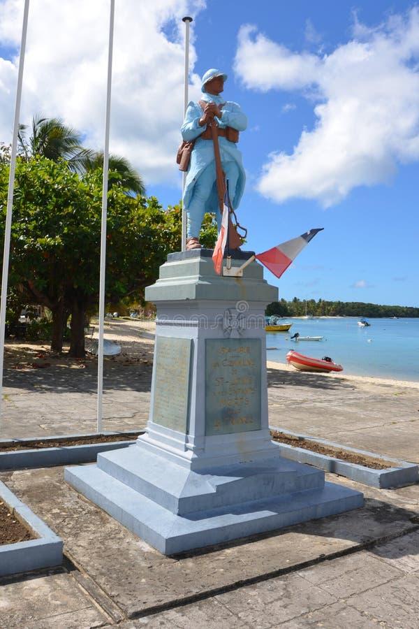 Центр большой-bourg, остров Marie Galante, Гваделупа, меньшие Антильские острова, карибское море стоковые фотографии rf
