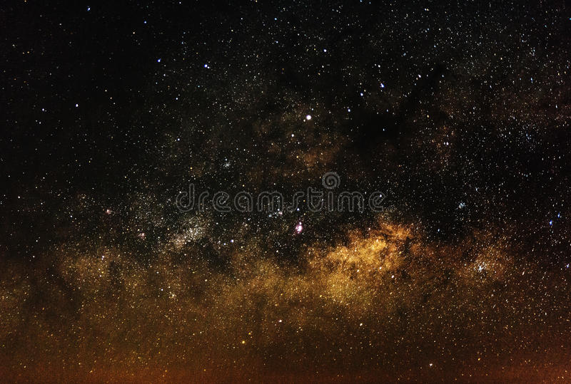 Центр галактики млечного пути стоковое изображение rf