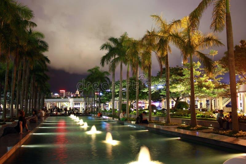 Центр Гонконга культурный стороной берега гавани Виктории стоковые изображения