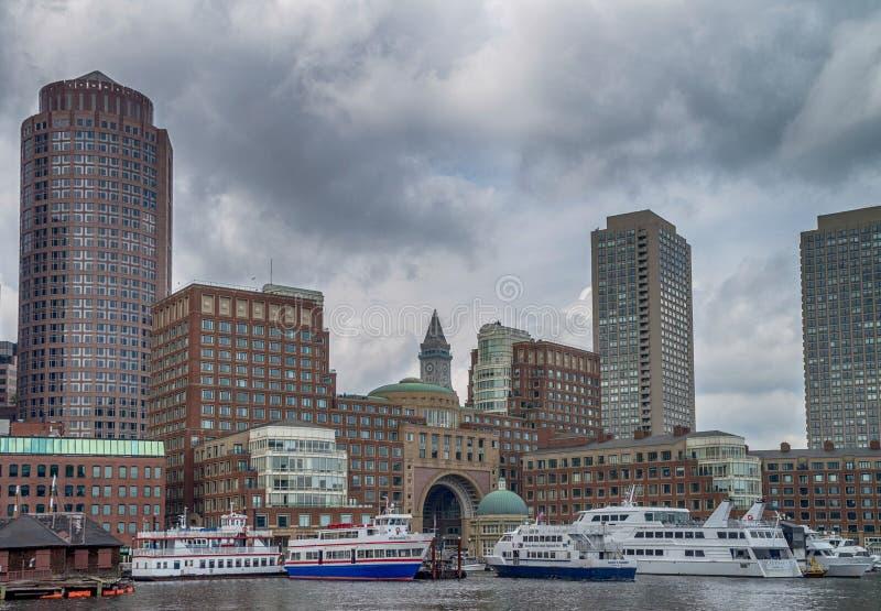 Центр города в Бостоне, Соединенных Штатах Америки стоковые фотографии rf